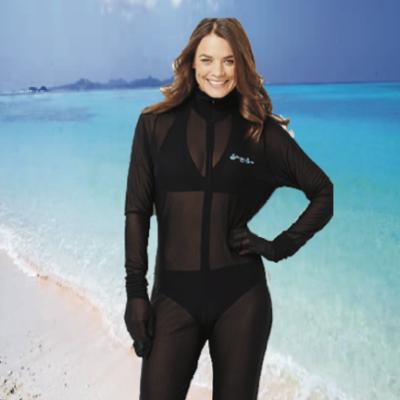 Stinger Suit on beach